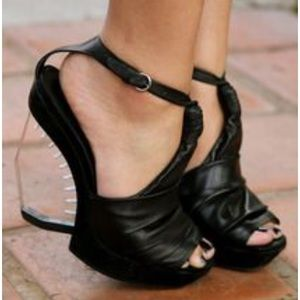 All Saints Gamma Perspex sandal